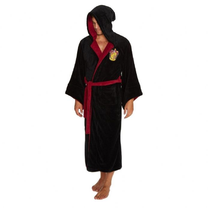 Harry Potter Gryffindor Adult Fleece Bathrobe | Buy now at The G33Kery - UK Stock - Fast Delivery